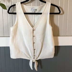 Madewell Texture and Thread tie-front top